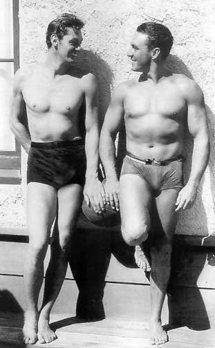 Johnny Weissmuller and George O'Brien